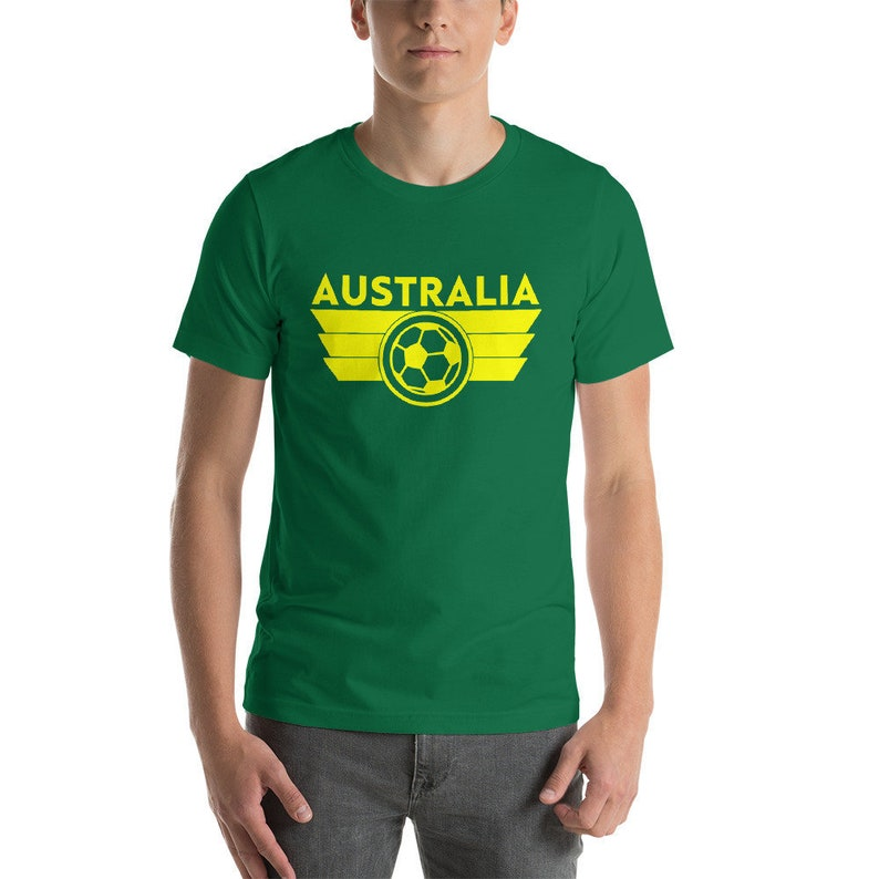 1c8cf214816 Australia Soccer Jersey Shirt Socceroos World Cup Aussie | Etsy
