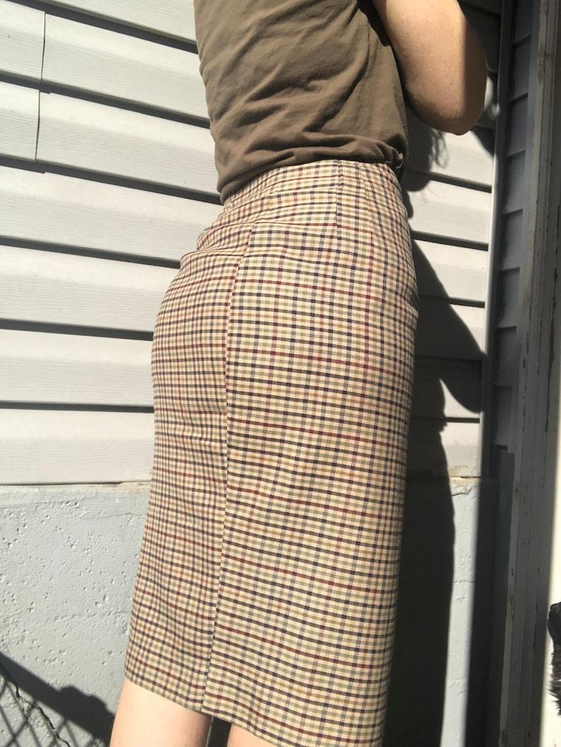 Daniel Hechter plaid pencil skirt