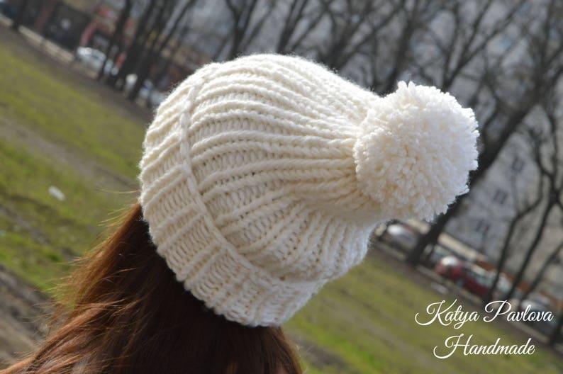 7b793ecd484 Chloe Kim knit beanie hat with pom pom Winter olympics 2018