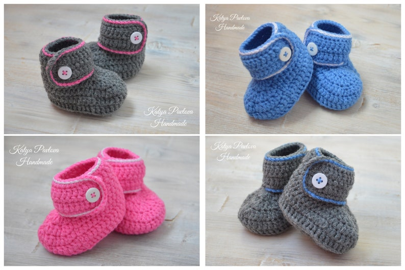 1982e19fc Crochet winter spring booties shoes baby Knit newborn slippers
