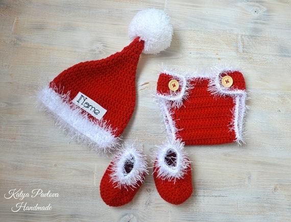 c27c72d4fd4 Santa claus baby suit costume First Christmas Xmas