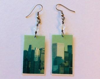 City Skyline Recycled Earrings