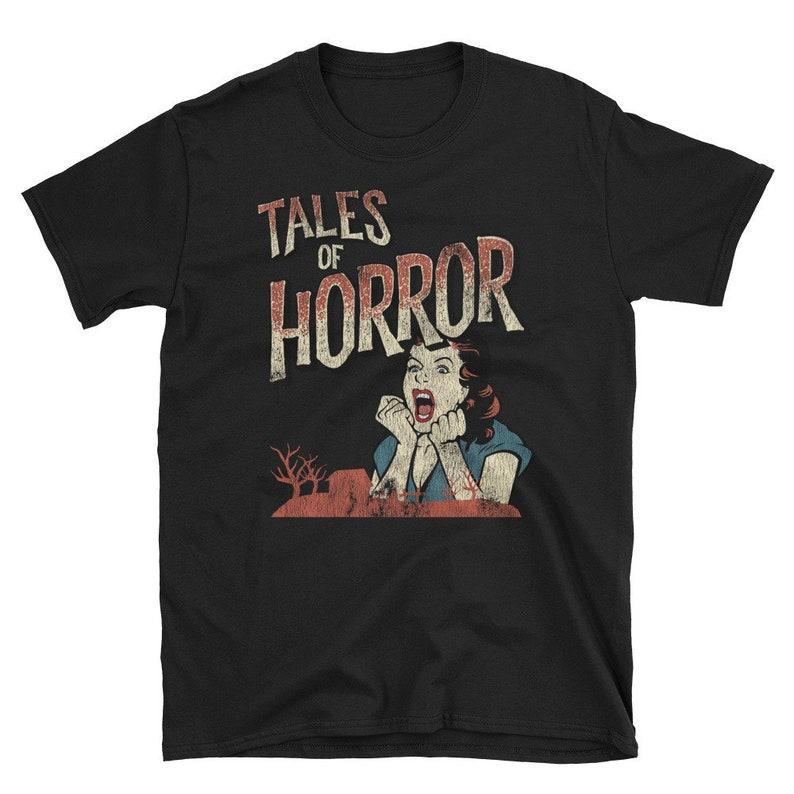 05383708f468 Vintage Horror Movie Poster Inspired Shirt Halloween tee | Etsy