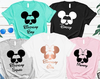 973dfbf77 Disney Birthday Shirts, Disney Birthday Squad, Disney Family Shirts, Family Disney  Shirts, Disney World Shirts, Disney Trip Shirts, Disney