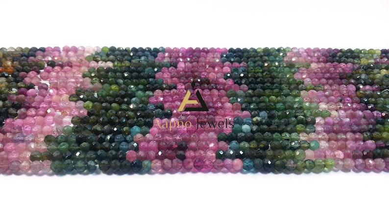 smooth round ball Multi Tourmaline 4-5mm Loose Beads aaa multi tourmaline beads loose beads necklace 14 fine tourmaline beads |