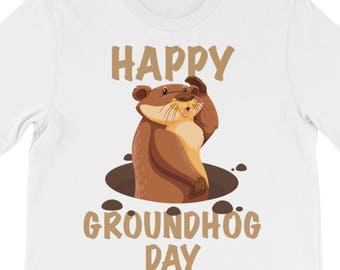 Happy Groundhog Day Funny Gift Shirt For February 2 2018 T-Shirt