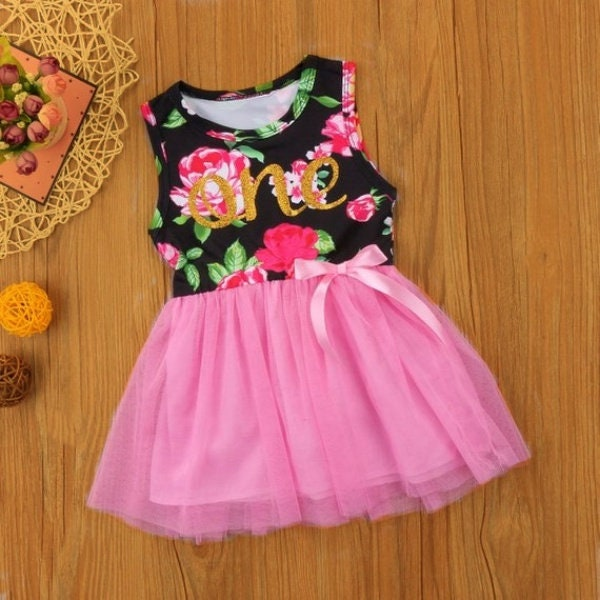 2f42fc43d4c8a Free shipping to US and PR,Birthday One,First year,One birthday  dress,Toddler birthday outfit,Princess outfit,Birthday clothing,1st birthday