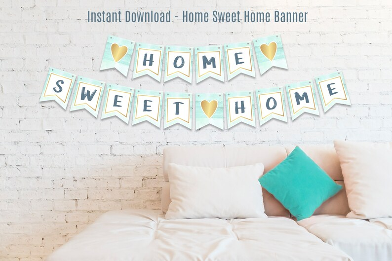 Instant Download Home Sweet Home Banner Housewarming Party Etsy