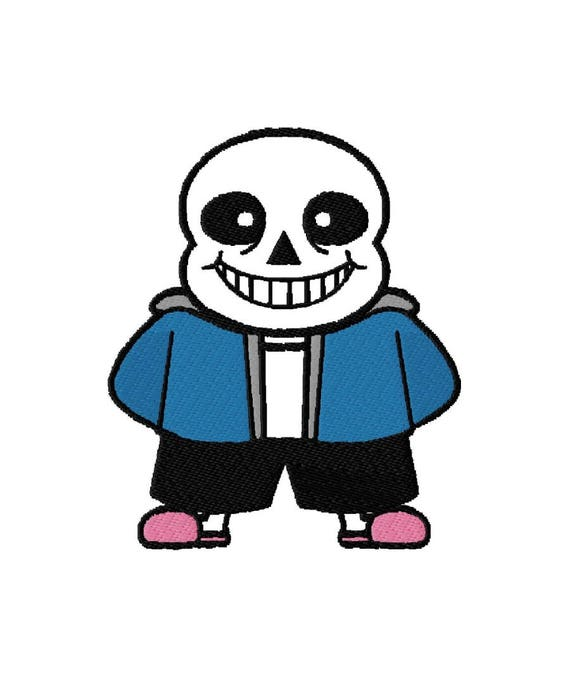 Machine Embroidery Design Sans Undertale
