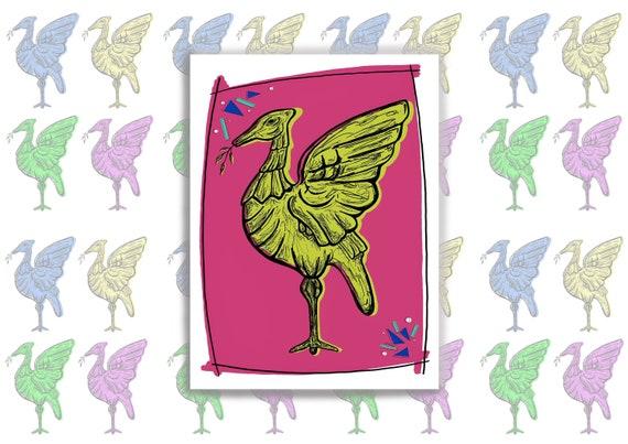 Liverpool Print, Liver Bird Liverpool Art Print