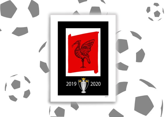 Liverpool Champions, Liverpool FC Limited Edition Print, Premier League Winners