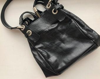 1ee5a142f175 Vintage 1990s Miu Miu Prada Women's Luxury Black Leather Hand Bag