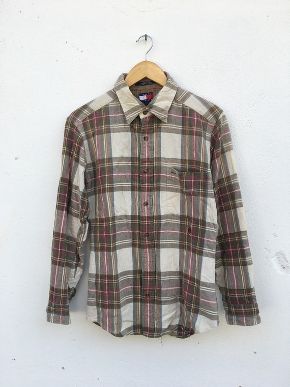 Vintage 90s Tommy Hilfiger Flannel Checkered desig