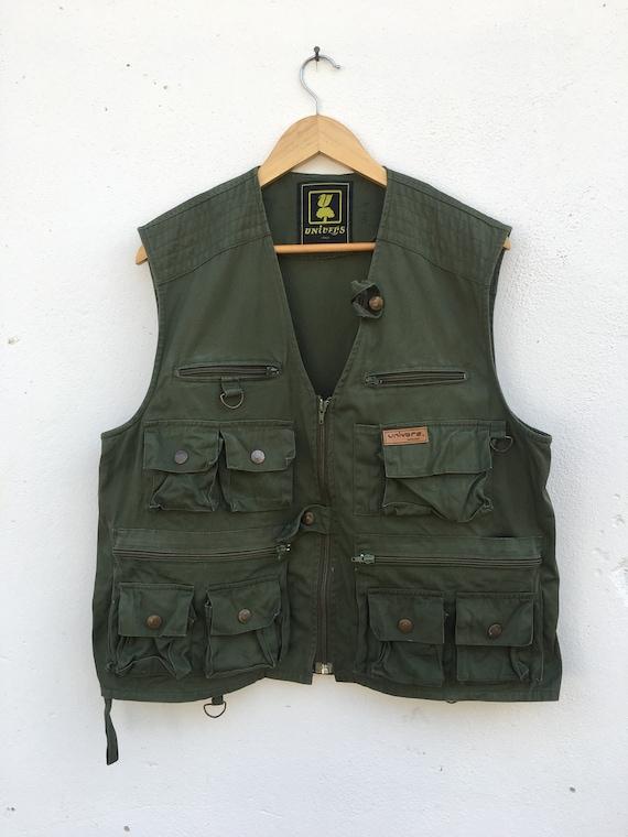 Vintage Tactical Vest Green Army