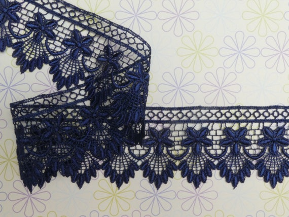 Gorgeous gold venice guipure lace trim edging for designing sewing 1 metre 9cm