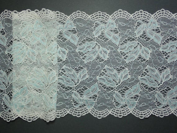 "6.5/""//16.5cm Pretty Blush Pink Floral Stretch Galloon Lace Trim.Sewing//Crafts"