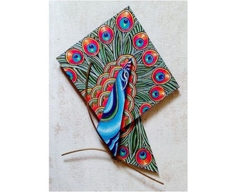 Peacock, exotic flora and fauna handicrafts for home decor or a special gift