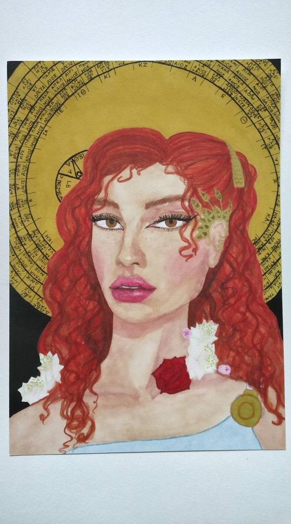 Aphrodite Greek Goddess Goddess Of Love Greek Mythology Aphrodite Print Redhead