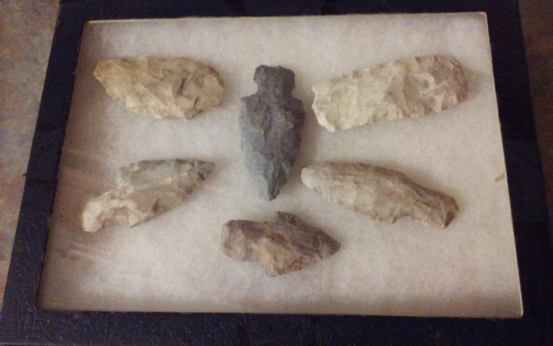 Native American Artifacts/Arrowheads Set of 6
