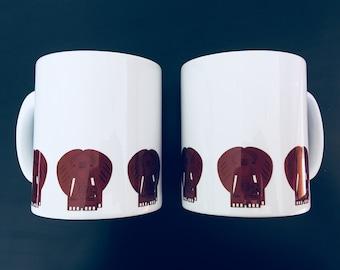 Elephant Safari mug by Desjigns