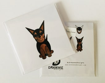Chihuahua Dog Greeting Card by DrawMe Designs