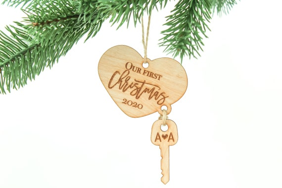 New Home Ornament 2020.First Home Christmas Ornament First Home Gift New Home Ornament Our First Christmas Newlywed Christmas Key Ornament 1st Christmas As