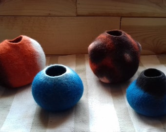 Felting tutorial, How to shape using fiber direction, carded wool, 3D objects. In SWEDISH, in RUSSIAN