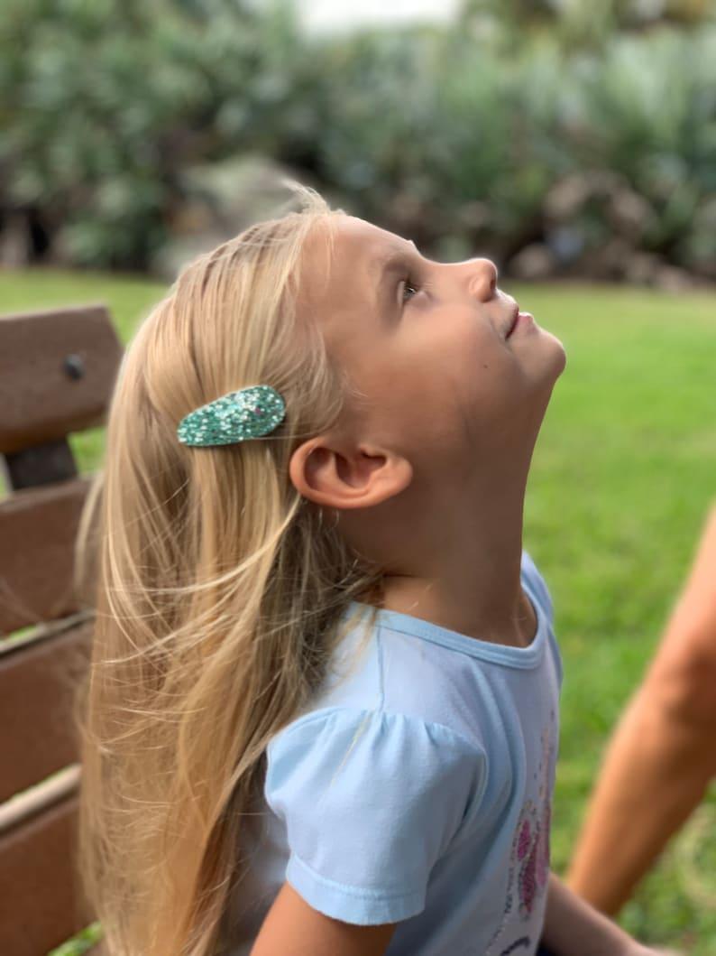 Toddler Hair Clips Hair Clip Barrette Glitter Barrettes Fringe Clips,Choose One Neutral Choose One Neutral Hair Clip Hair Clip