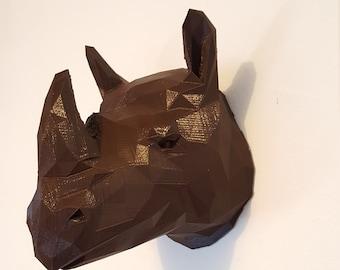 Wall Deco Rhino head