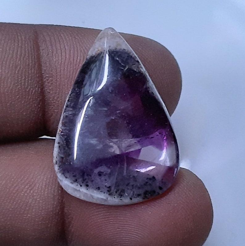 20x27mm Natural Chevron Amethyst Gemstone Amethyst Pendant Loose Cabochon gemstone Handmade Jewelry Making Cabochon AMETHYST Pear Shape B604