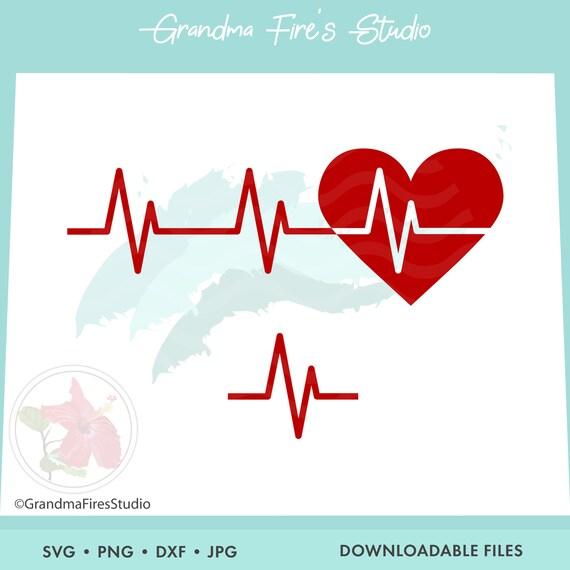 Heartbeat Svg Heartbeat Heartbeat Line Art Heartbeat Etsy