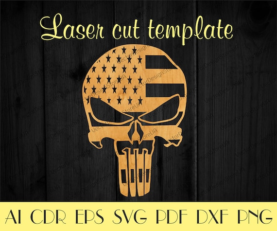 punisher skull templateunique decorpunisher svgamerican etsy