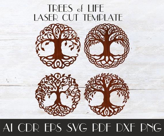 set 4pcs tree of life wall decortree of life wall arttree of etsy