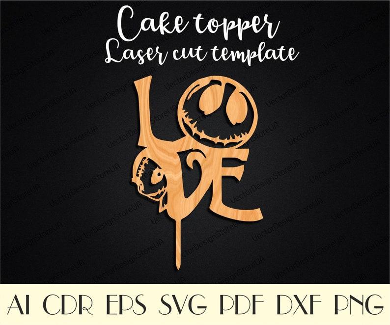 Jack and Sally love svg,Jack and Sally svg,Jack and Sally cake topper,Love sign svg,Love cake topper,Vector for CNC,Cake topper svg CTT-67