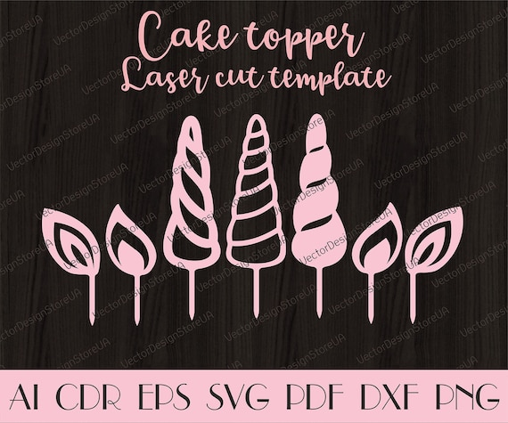 unicorn horn and ears cake topperunicorn cake topper etsy