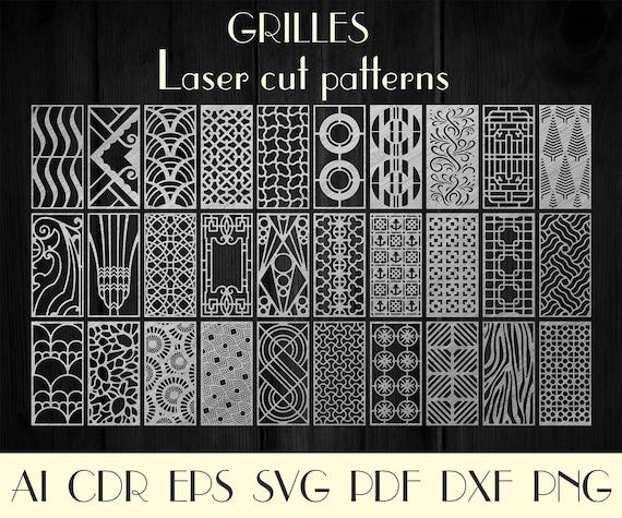 Set 30Pcs Dekorplatten Dxf-Dateien für Laser Wand Separator | Etsy