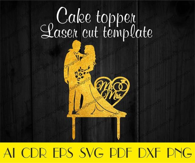 Wedding cake topper templateAnniversary cake topper fileMr | Etsy
