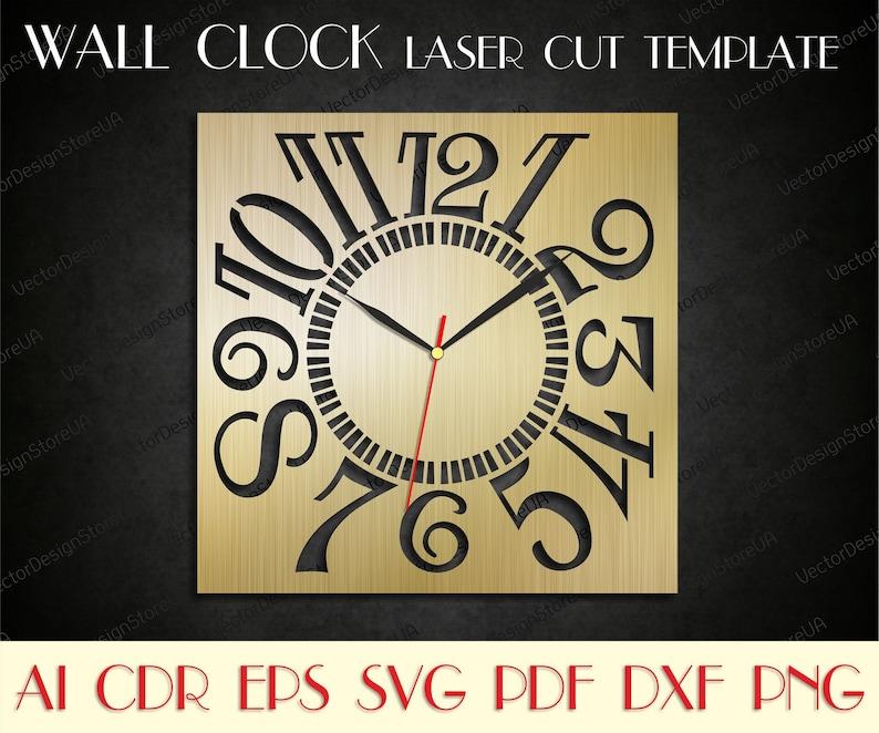 Modern Clock Svgunique Clocklarge Wall Clockwooden Clocklaser Cut Filesbirthday Giftdxf Files For Laserclock Dxfclock Svg Wcm 92