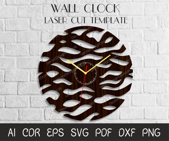 Unique Clock For Wallmodern Clock Filelarge Clock For Etsy