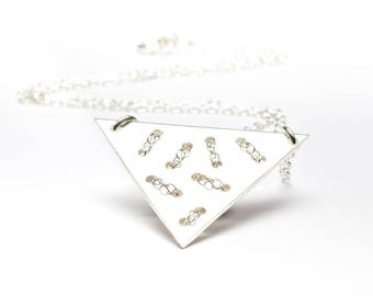 Geometric Sterling  Silver necklace