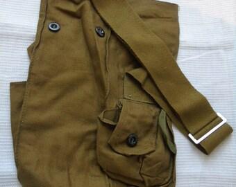 Vintage bag\Military bag\Soviet vintage bag\khaki Bag\gas tank Bag\USSR\Bag for tourism\the Soviet army