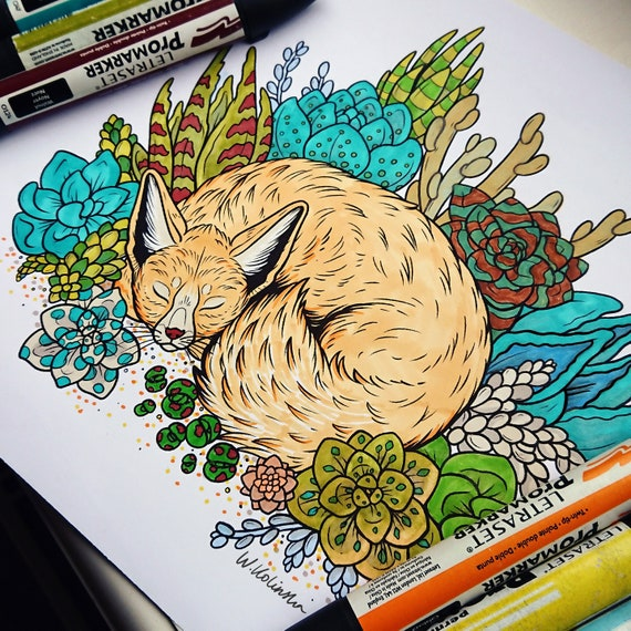 Animals And Nature Set Of 6 Printable Coloring Pages Etsy