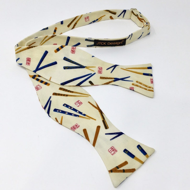 Traditional Self Tie Chinese Chopsticks Bow Tie Necktie Men's Accessories  Bowtie Red Food