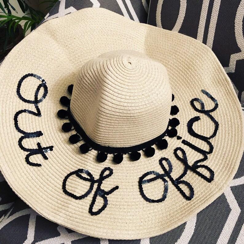 94b3ed9767 Custom Beach Floppy Hat   Honeymoon   Vacation  Out of Office