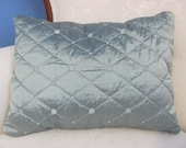 Lee Jofa Quilted Faux Silk Lumbar Pillow