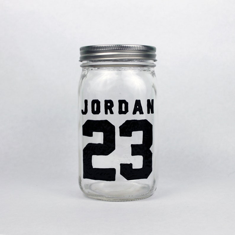 half off 5b4c5 c3f70 Michael Jordan Jersey / Hand-Painted Mason Jar / Basketball Chicago Bulls  Sports Inspiration GOAT Unique Birthday Gift for Sports Lover