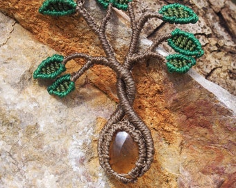 Tree of life necklace - amber
