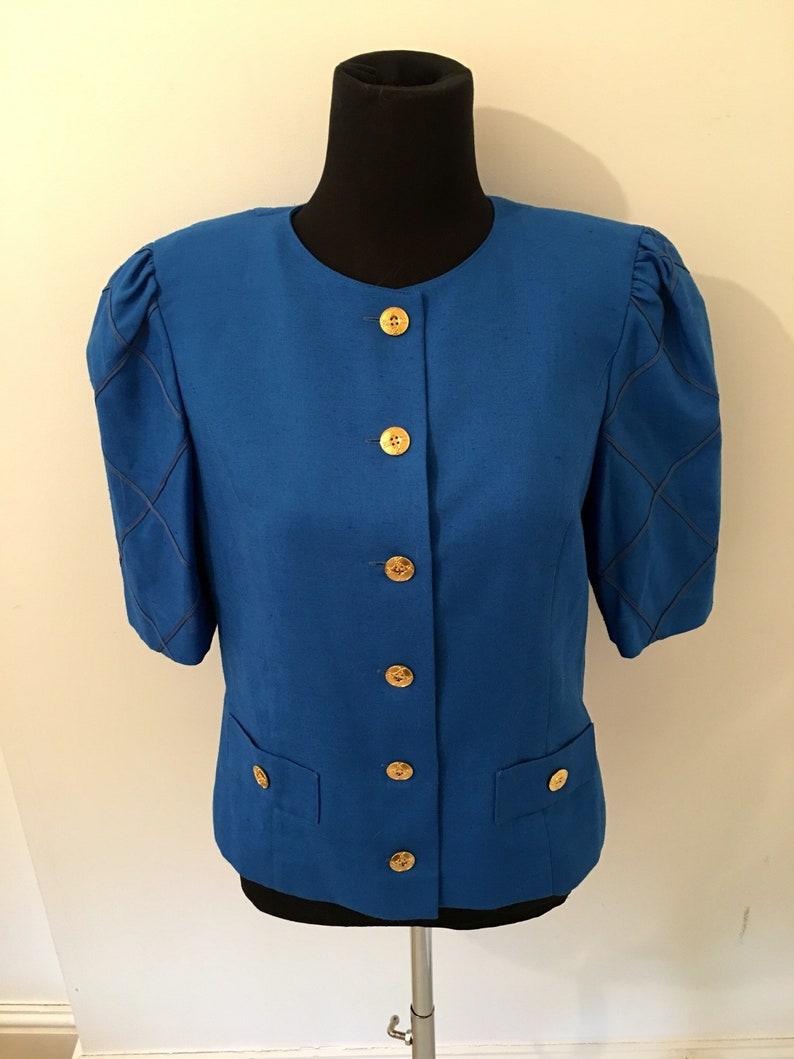 Vintage 1970/'s short sleeved cobalt BLUE JACKET