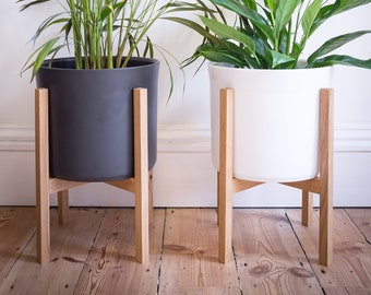 Wood Plant Stand Etsy