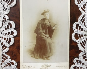 Antique Cabinet Card Photo of Nicely Dressed Woman